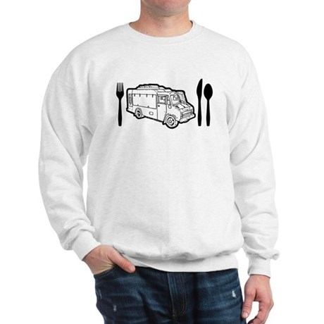 Food Truck Plate & Utensils Sweatshirt