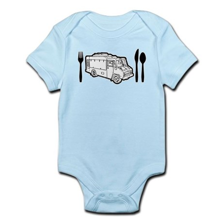 Food Truck Plate & Utensils Infant Bodysuit