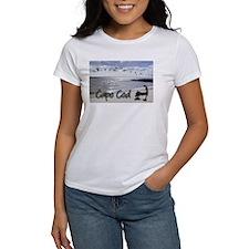 capebluillusbkrnbwtemp_laptop_skin T-Shirt
