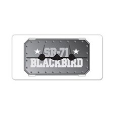 SR-71 Blackbird Aluminum License Plate