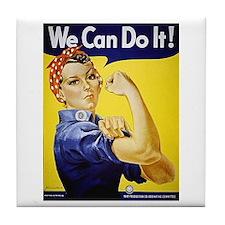 Rosie the Riveter Art Tile Coaster