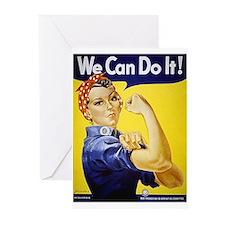 Rosie the Riveter Art Greeting Cards (Pk of 10