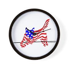 Agility Flag Dog Wall Clock