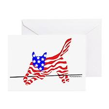 Agility Flag Dog Greeting Cards (Pk of 10)