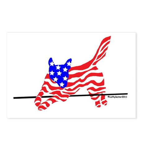 Agility Flag Dog Postcards (Package of 8)