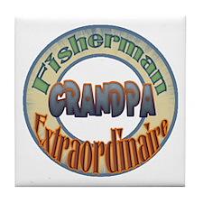 FISHERMAN GRANDPA Tile Coaster