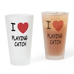 I heart playing catch Drinking Glass