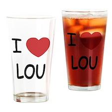 I heart lou Drinking Glass