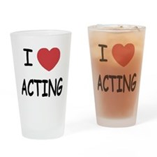 I heart acting Drinking Glass