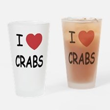 I heart crabs Drinking Glass