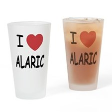 I heart alaric Drinking Glass