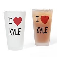 I heart kyle Drinking Glass