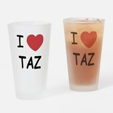 I heart taz Drinking Glass