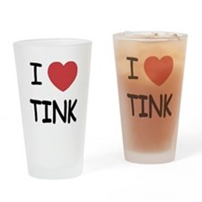 I heart tink Drinking Glass