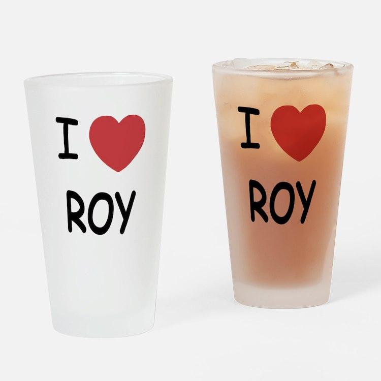 I heart roy Drinking Glass