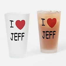 I heart jeff Drinking Glass