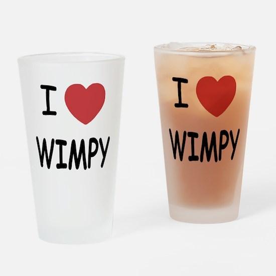 I heart wimpy Drinking Glass