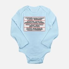 Mission Restriction Sign Long Sleeve Infant Bodysu