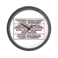Mission Restriction Sign Wall Clock