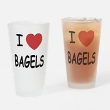 I heart bagels Drinking Glass