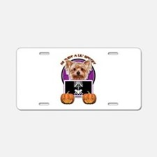Just a Lil Spooky Yorkie Aluminum License Plate