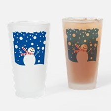 Holiday Snowman Drinking Glass