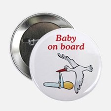 """Baby on Board Stork 2.25"""" Button"""