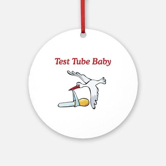 Test Tube Baby Stork Ornament (Round)