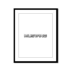 Mustang Framed Panel Print