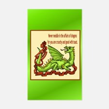 Dragons Sticker (Rectangle)
