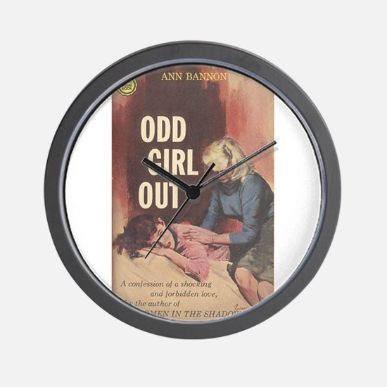 Odd Girl Out Wall Clock