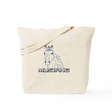 Mustang Horse txt Tote Bag