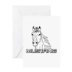 Mustang Horse txt Greeting Card
