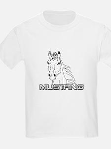 Mustang Horse txt T-Shirt
