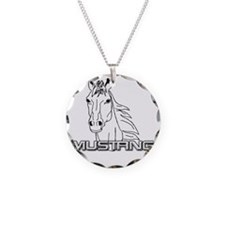 Mustang Horse txt Necklace