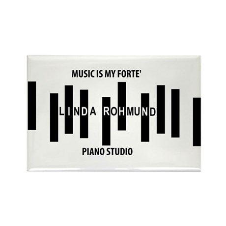Linda Rohmund Piano Studio Rectangle Magnet (10 pa