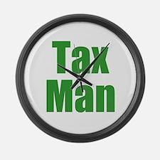 Tax Man Large Wall Clock