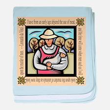 Vegetarian da Vinci Quote baby blanket