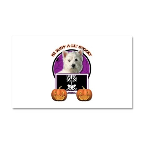 Just a Lil Spooky Westie Car Magnet 20 x 12