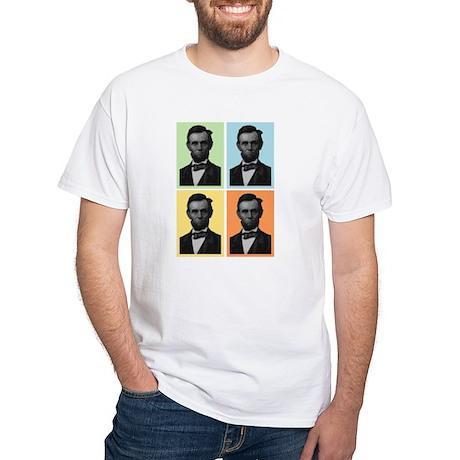 4 Score Lincolns White T-Shirt