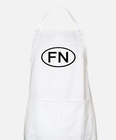 FN - Initial Oval BBQ Apron