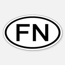 FN - Initial Oval Oval Decal
