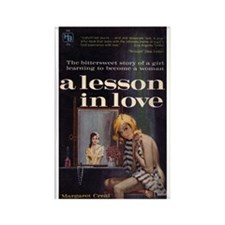 A Lesson in Love Rectangle Magnet