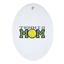 Tennis Mom Oval Ornament