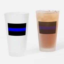 Drinking Glass Thin Blue Line