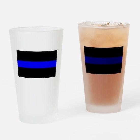 Drinking Glass Thin Blue Line