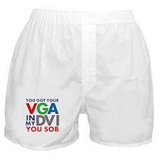VGA to DVI Boxer Shorts