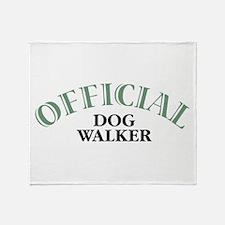 Dog Walker Throw Blanket