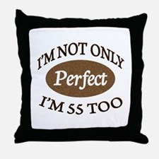 Unique Turning 55 Throw Pillow