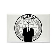 Anonymous Hackers Rectangle Magnet